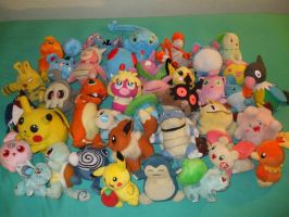 My Collection of Pokemon Dolls by Gamekirby