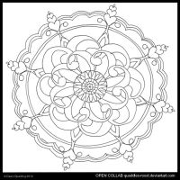 Lost In Meditation Mandala by Quaddles-Roost