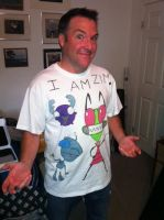Zim with my tee shirt by invaderjade1