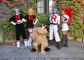 Team Rocket cosplay by TechnoRanma