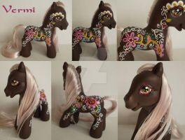 My little Pony Custom Vermi ~ paisley style $41,00 by BerryMouse