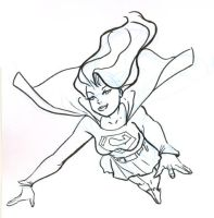 Quick Supergirl by hoppers13