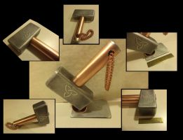 Another aluminum and copper Hammer by creativeetching