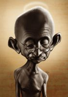 Gandhi Caricature by davisales