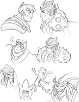 LoL Sketches by TotemHead