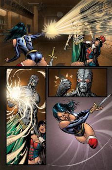 Zenescope - GFT Unleashed #1 page 28 Colors by nahp75