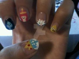 Adventure Time Nail Art Pt 2 by Cattilac