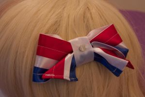Captain America Hair Bow by AngelicalDesign