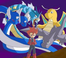 Lance and pokedragons by Pokemon-Manga-FC