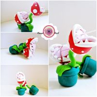 Piranha Plants earrings by KawaiiRoxX