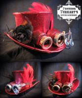 Steampunk Top Hat and Goggles by tursiart