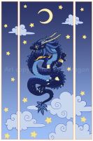 Moon dragon Print version by -lildragon-