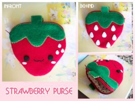 Strawberry purse by peysien
