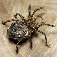 Steampunk Clockwork Spider by CatherinetteRings