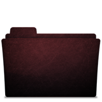 Folder-icon Scratched Red by Tristan-Daniel