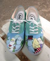The Moomins , custom shoes by Annatarhouse