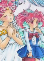 Chibiusa's first kiss by LuckyAngelausMexx