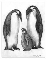 Penguin family by fatboygotsick