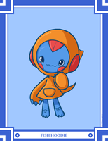 Monster Month II, #16: Fish Hoodie by The-Knick