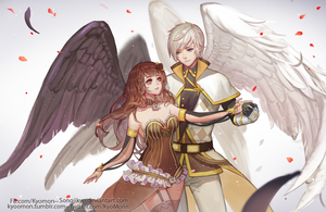 [Commisson] Alethea  and Eizenvaltz by SongJiKyo