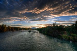 Sac River Sunset by nathanspotts