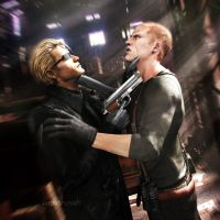 Jake VS Wesker by vanadise