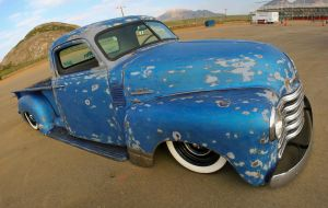 old blue chevy by SurfaceNick