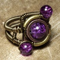 Orbit steampunk ring Purple by CatherinetteRings