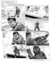 Freeman Chronicles (Half Life) - storyboard panels by RaulArnaiz