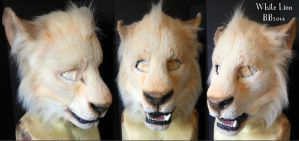 Juvenile White Lion Facemask by Magpieb0nes