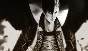 Mitsunari Ishida - Bloody angel by YaninaJohnson