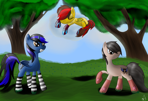 Guardians of the sleeping pony!!! (request) by Silverwindpegasus