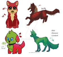 4 Pup Adopts (Mixed prices) OPEN by Nitne