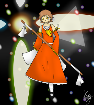 Touhou character concept - Farbe by KagaTheWhiteFox