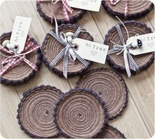 Tree Stump Coasters by hitree