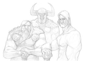 Vikings Sketch by GHU4U