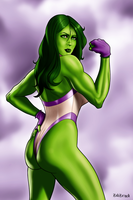 She-Hulk by ZabZarock