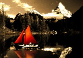 Alpine Sailing by newpaen
