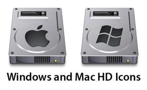 Win and Mac Hard Drive Icons by mmill4