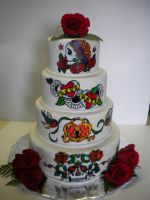Ed Hardy Wedding Cake by ShadeeGray15