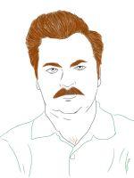 Ron Swanson by saleemnoorali
