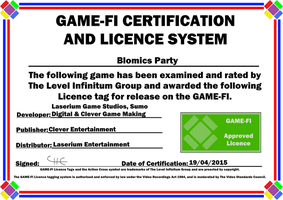 Blomics Party Game-Fi Certificate by LevelInfinitum