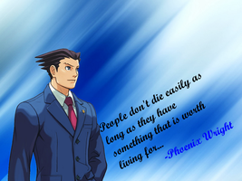 Phoenix Wright - A touching line. by drasticxx