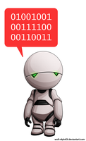 Marvin, the Paranoid Robot by Deslaias