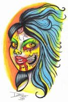 Zombie Girl by Tat2ood-Monster