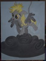 Derpy painting by Blindfaith-boo
