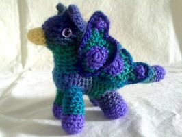 Purple Butterfly Pigmy Gryphon by hollyann