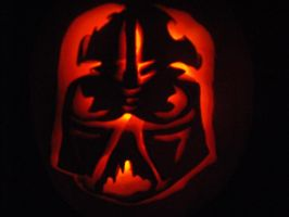 Darth Vader Pumpkin by Black-Destiny