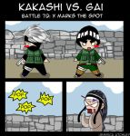 Kakashi vs Gai: battle 72 by icyookami