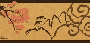 Chinese Calligraphy by wombologist